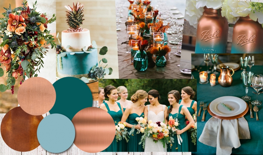 Colour Inspiration: Copper and Teal