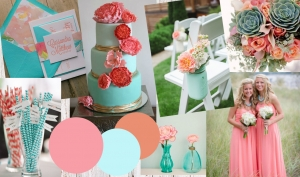 Colour Inspiration: Coral and Turquoise