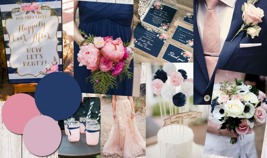 Colour Inspiration: Navy and Blush
