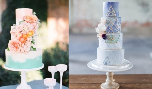 Wedding Trend Watch: Painted Wedding Cake